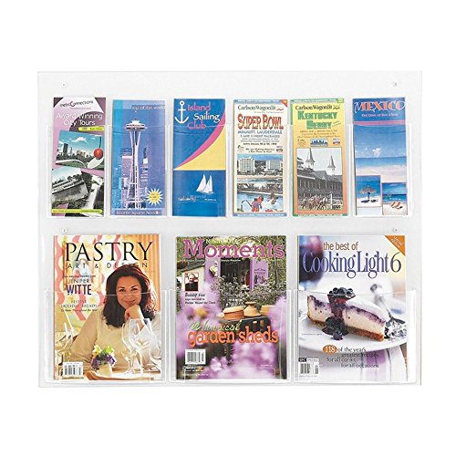 Clear2c 3 Magazine and 6 Pamphlet Display Clear electronic -
