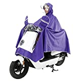 RFVBNM Electric Motorcycle Raincoat Adult Double Hat Poncho Poncho Men and Women Single Helmet Double Sided Cover Increase Raincoat