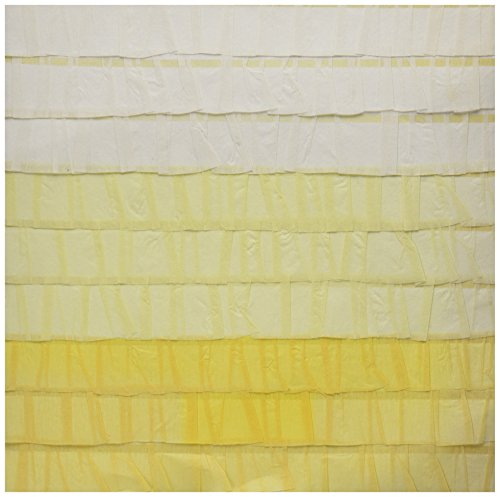 "American Crafts Dear Lizzy Neapolitan Stitched Ruffle Crepe Paper 12""X12""-Endless Summer Yellow 15 per pack (TRTAZ11A)"