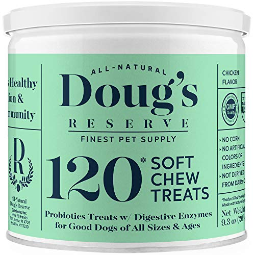 Doug'S Reserve Probiotics for Dogs with Digestive Enzymes – Immunity & Digestion Booster for Diarrhea, Constipation…