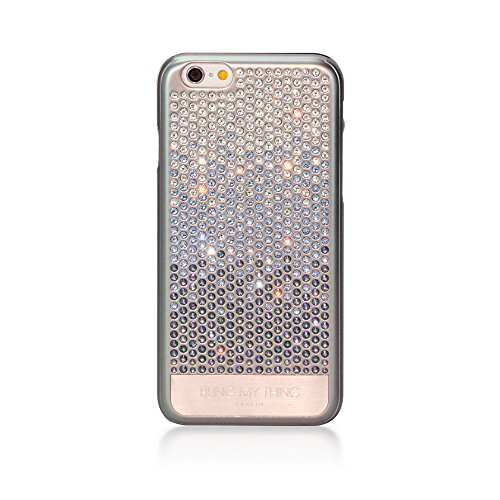 Bling-My-Thing Case for Apple iPhone 6 - Retail Packaging - Metallic Silver/Crystal Paradise (Metallic Crystal Case)