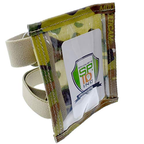 Specialist ID Ultimate Military Armband ID Badge Holder - Heavy Duty Nylon I.D Card Holder (Camo/Camouflage) with Two Adjustable Elastic Bands - Made in The USA (MultiCam)