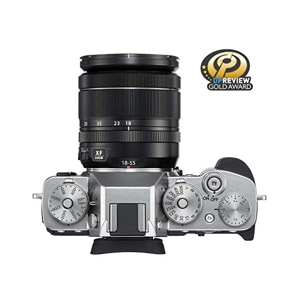 """RetinaPix Fujifilm X-T3 26.1 MP Mirrorless Camera with XF 18-55 mm Lens (APS-C X-Trans CMOS 4 Sensor, X-Processor 4, EVF, 3"""" Tilt Touchscreen, Fast & Accurate AF, Face/Eye AF, 4K/60P Video) - Silver"""