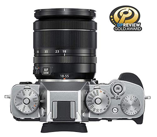 """Fujifilm X-T3 26.1 MP Mirrorless Camera with XF 18-55 mm Lens (APS-C X-Trans CMOS 4 Sensor, X-Processor 4, EVF, 3"""" Tilt Touchscreen, Fast & Accurate AF, Face/Eye AF, 4K/60P Video) - Silver 3"""