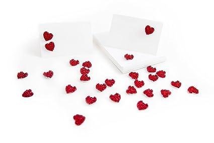 30 tarjetas de St. Mesa - Rosas Rojas Corazones - Bodas o como ...