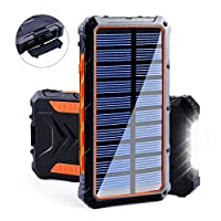 Benfiss Solar Power Bank, 20000mAh Porta...