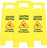 Galashield Wet Floor Sign 3 Pack 2-Sided Safety