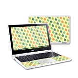 MightySkins Protective Vinyl Skin Decal for Acer Chromebook R11 Case wrap Cover Sticker Skins Maze Leaves