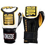 Ringside Youth Safety Sparring Gloves, Black/White, 12-Ounce
