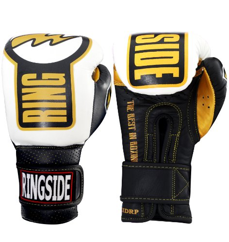 Ringside Youth Safety Sparring Gloves, Black/White, 10-Ounce