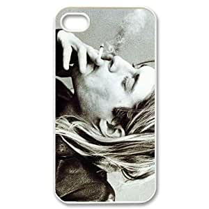 Nirvana Kurt Cobain Theme Case Cover for iPhone 4/4S - Personalized Hard Cell Phone Back Protective Case Shell-Perfect as gift