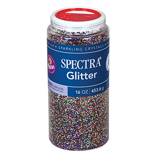 Pacon Spectra Glitter Sparkling Crystals, Multi-Color, 16-Ounce Jar (91790) by Pacon