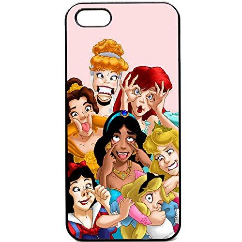 iPhone 5 / 5s Princesses Disney funny faces Phone case Snow white mermaid cute