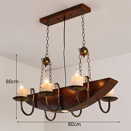 ZI LIN SHOP- Wood Retro Industrial Style Chandelier Loft Creative Bar Restaurant Cafe Decorative Wood Lamps rug