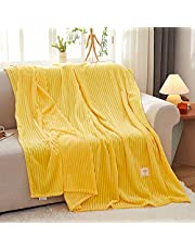 """Chifave Twin Blanket 60""""x 80"""" Throw Super Luxurious Soft Fluffy Comfortable Flannel Fleece Couch Bed Adult Blankets Premium Polyester Twin Blankets for All Season"""