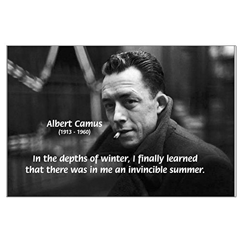 CafePress - Albert Camus Motivational Poster on Heavy Semi-gloss Paper