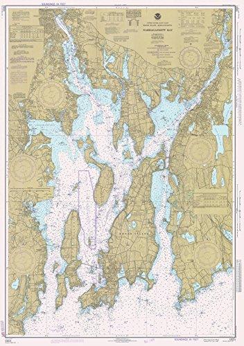 1977 Nautical Chart | Historical Narragansett Bay | RI, MA Vintage Map Fine Art Reproduction (Narragansett Bay)
