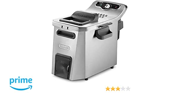 DeLonghi F44532CZ Solo - Freidora Independiente de Acero Inoxidable, 5 L, 3200 W, 1,5 kg, Negro: Amazon.es: Hogar