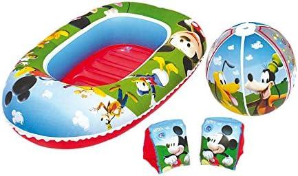 La Casa de Mickey Mouse- Mickey Set de Playa Barca Pelota Manguitos, 56 x 28 x 8,5 cm (Bestway 91017): Amazon.es: Juguetes y juegos