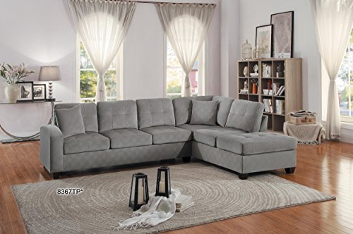 Homelegance 2 Piece Sectional Sofa Polyester With Reversible Chaise