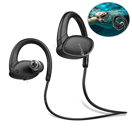OVEVO X9 Auriculares Inalambricos Deportivos, Leegoal Ipx7 Impermeable Auriculares Bluetooth 4.2 con Microfono, Ruido