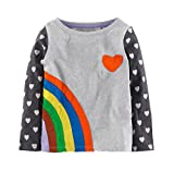 Endymion Meow Little Girls Cotton Clothing Long T-Shirt Rainbow Size 18M