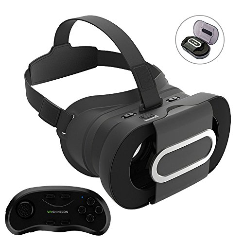 Folded pocket 3D VR Glasses, XIAOKOA Portable 3D Virtual Reality Headset Glasses Game Box with VR Remote Adjust Video Movie for Apple iPhone 6 6S Plus 5S SE 5 Samsung Galaxy s5/s6/note4/note5