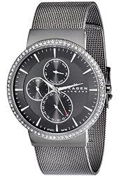 Skagen Women's 357XLMM Stainless Steel Grey Dial Watch