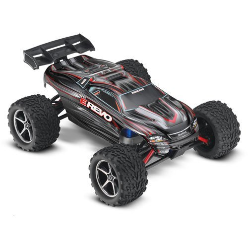 (Traxxas 71054-1BLACK E-REVO 4WD Brushed Electric Monster Truck)