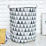 Hot Sale!DEESEE(TM)Waterproof Sheets Laundry Clothes Laundry Basket Storage Basket Folding Storage (D)