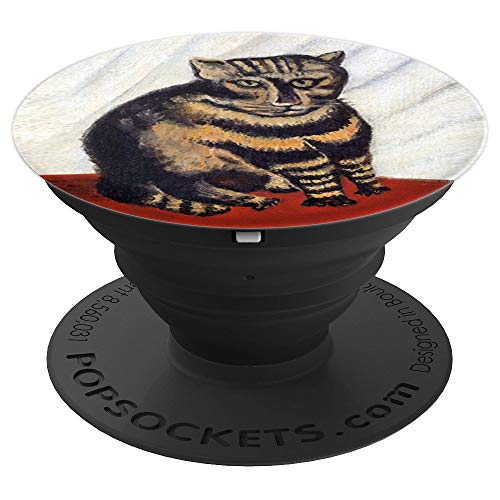Henri Rousseau - The Tabby Tiger Cat Fine Art - PopSockets Grip and Stand for Phones and (Tiger Tabby Cat)