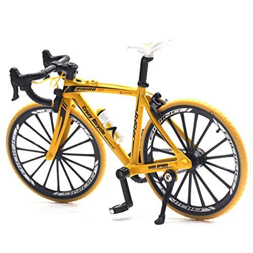 [해외]BeimYcW 110 Simulation Alloy Racing Bike Road Bicycle Model Toy Gift Showcase Decor - Yellow / BeimYcW 110 Simulation Alloy Racing Bike Road Bicycle Model Toy Gift Showcase Decor - Yellow