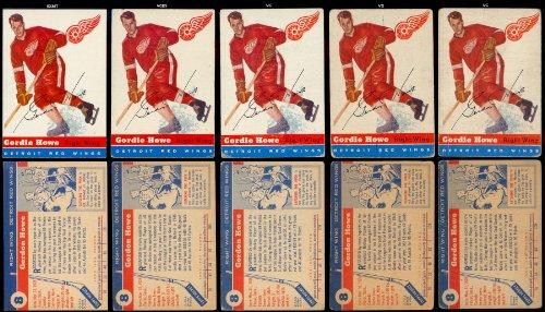 1954 Topps Regular (Hockey) Card# 8 Gordie Howe of the Detroit Red Wings VG ()
