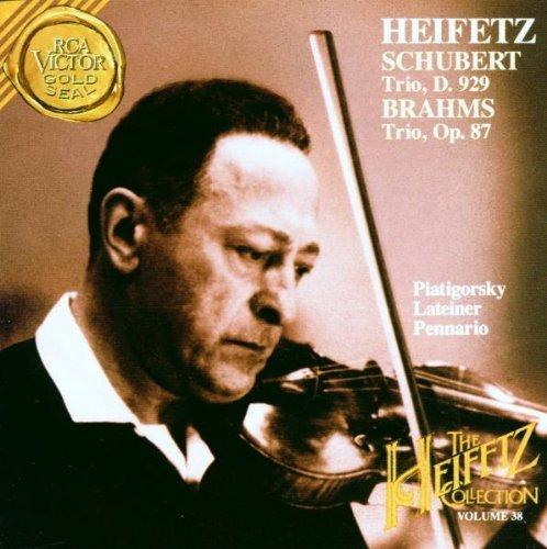 Schubert: Trio No. 2 D. 929, Op. 100 / Brahms: Trio No. 2, Op. 87 (The Heifetz Collection, Vol. 38) by Jascha Heifetz