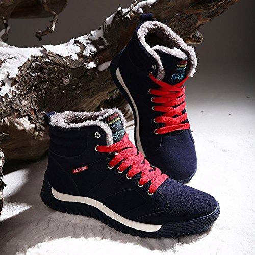 Stivali Blu Scarpe Scarpe Alti Uomini 39 Scarpe 44 Neve Sneaker Verde Marcia Invernali Scuro Caldi Sport Foderati Casuale Hibote Da Nero qvZqwYtxz