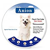 Dog Flea Treatment Collar - Flea Tick Collar for Dogs and Cats (Grey) - Repel & Prevent Fleas, Pests, Insects,Water Resistant,8 Month Protection,One Size Fits All(New Version) (20180207-Dog)