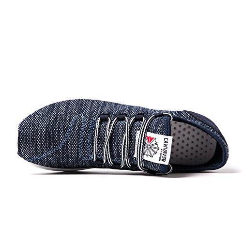 Hombre Zapatillas casual Azul tejer ligero Zapatos deportivas Peso atlético CUSTOME fqASBA