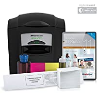 Complete AlphaCard ID Card Printer Bundle: AlphaCard Pilot ID Printer, AlphaCard ID Software, ID Supplies (Complete Bundle for PCs, Pilot Printer)