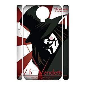 WJHSSB Cell phone Cases V for Vendetta Hard 3D Case For Samsung Galaxy S4 i9500