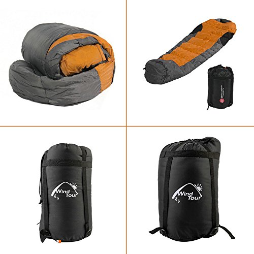 Mummy Sleeping Bag 5F/-15C Camping Hiking With Carrying Case Brand New - Galaxy Mountain Sleeping Bag