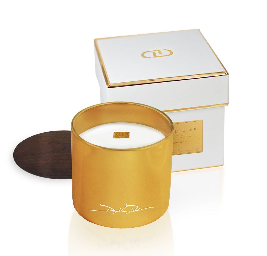 Dayna Decker Haute Atelier Chandel Scented Candles, Tuberose Musc, 12 Ounce