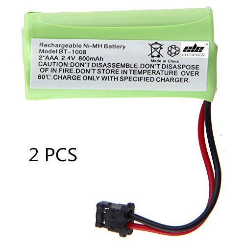 2 Pack - Battery for Uniden BT-1008 & Many Others (Lifetime Warranty, Bulk Packaging) from Gator Crunch