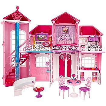 Amazon Com Barbie Pink World House Toys Amp Games