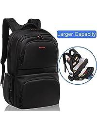 Kuprine Slim Business Laptop Backpack for Men Women, Rainproof Travel Bag Lightweight College School Computer Backpack with Hidden Compartment, Black