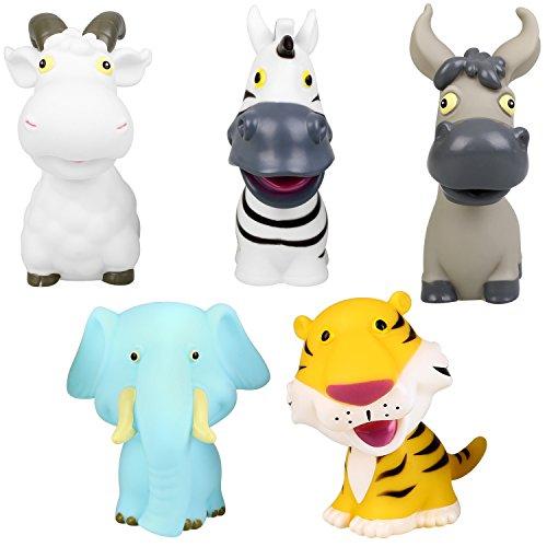 peradix floating soft bath tub shower toys animal set 5pcs import it all. Black Bedroom Furniture Sets. Home Design Ideas