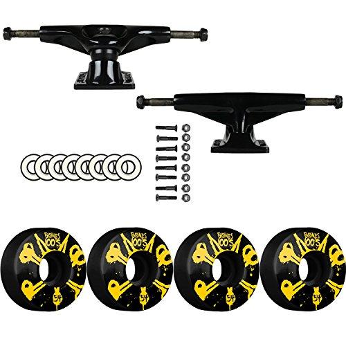 Tensor SKATEBOARD PACKAGE Magnesium 5.25 Black Trucks Bones 54mm 100's V4 Wheels
