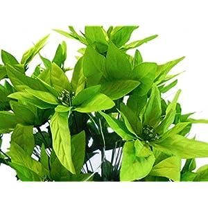 "Lime Christmas Poinsettia Bush 24 Artificial Silk Flowers 24"" Bouquet 030LIM 3"