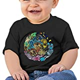 Jirushi Infants &Toddlers Baby's Tribalish Eeveelutions Black T Shirts For 6-24 Months