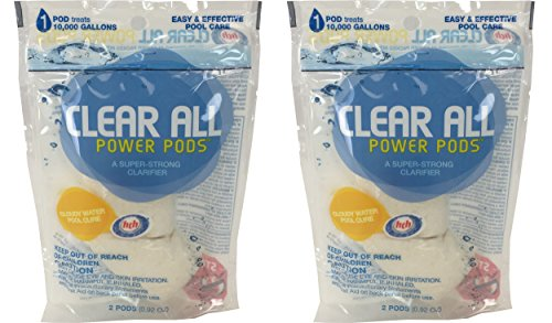 HTH Swimming Pool Clear All Strong Cloudy Water Clarifier Power Pods, 2-Pack