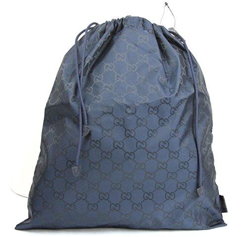 Gucci Blue Nylon Guccissima Viaggio Collection Drawstring Pouch 308941 - Gucci Blue